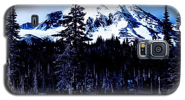 Galaxy S5 Case featuring the photograph Mount Rainier Blue... by Eddie Eastwood