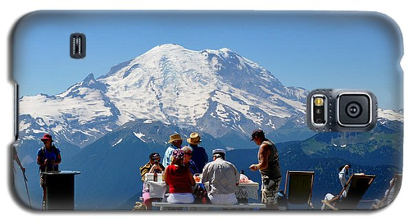 Galaxy S5 Case featuring the photograph Mount Rainier Seen From Crystal Mountain Summit  7 by Tanya  Searcy