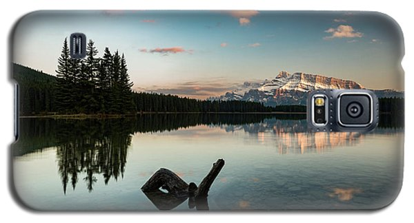 Mount Rundle And Two Jack Lake Galaxy S5 Case
