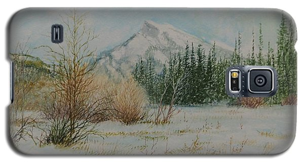 Mount Rundle In Winter Galaxy S5 Case