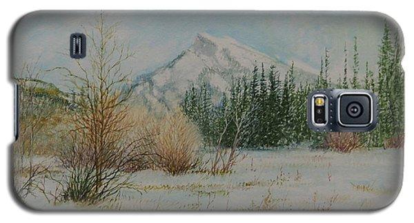 Mount Rundle In Winter Galaxy S5 Case