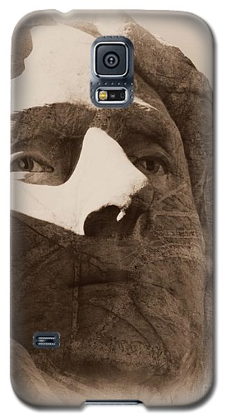 Mount Rushmore Faces Jefferson Galaxy S5 Case