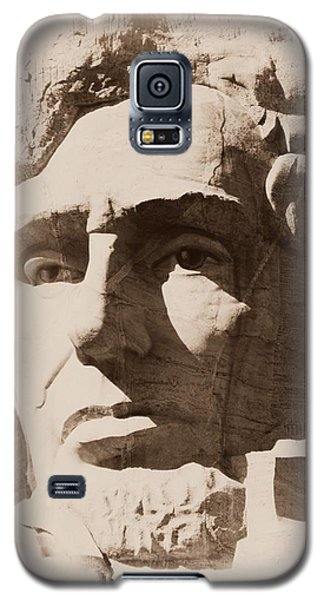 Mount Rushmore Faces Lincoln Galaxy S5 Case