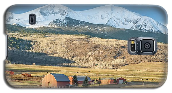 Galaxy S5 Case featuring the photograph Mount Sopris Sunrise by Eric Glaser