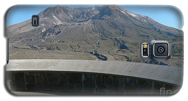 Galaxy S5 Case featuring the photograph Mount St. Helen Memorial by Larry Keahey