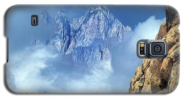 Galaxy S5 Case featuring the photograph Mount Whitney Clearing Storm Eastern Sierras California by Dave Welling