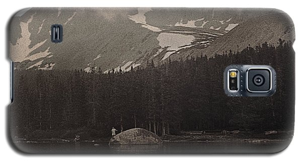 Galaxy S5 Case featuring the photograph Mountain Anglers by Thomas Bomstad