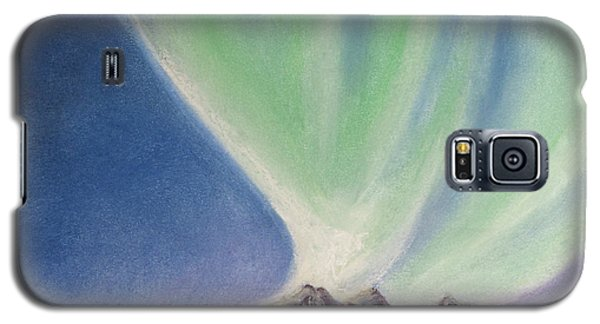 Galaxy S5 Case featuring the painting Mountain Aurora by Stanza Widen