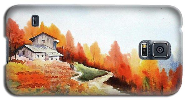 Mountain Autumn Forest Galaxy S5 Case