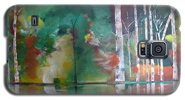 Galaxy S5 Case featuring the painting Mountain Birch by Gary Smith