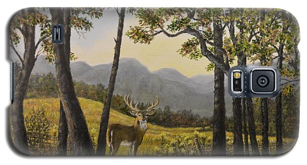 Galaxy S5 Case featuring the painting Mountain Buck by Kathleen McDermott