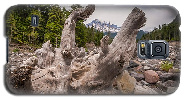 Galaxy S5 Case featuring the photograph Mountain Dry River by Chris McKenna