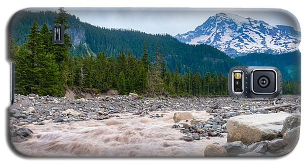 Galaxy S5 Case featuring the photograph Mountain Glacier River by Chris McKenna
