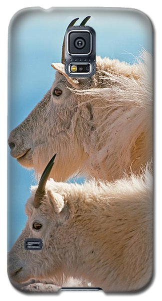 Galaxy S5 Case featuring the photograph Mountain Goats by Gary Lengyel