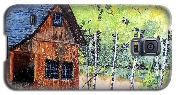 Galaxy S5 Case featuring the painting Mountain Home by Tom Riggs