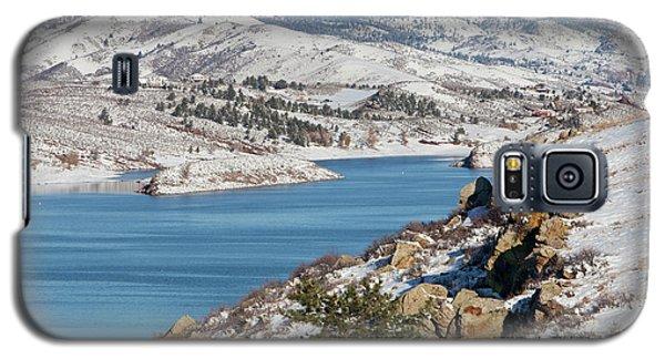 Mountain Lake In Winter Scenery Galaxy S5 Case by Marek Uliasz