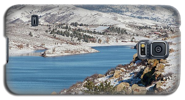 Mountain Lake In Winter Scenery Galaxy S5 Case
