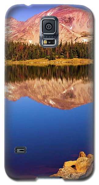 Galaxy S5 Case featuring the photograph Mountain Lake Reflections by John De Bord