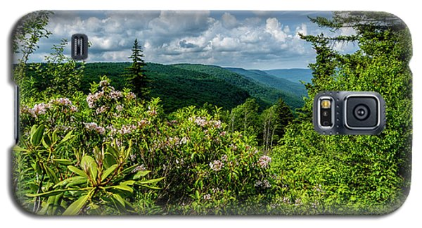Galaxy S5 Case featuring the photograph Mountain Laurel And Ridges by Thomas R Fletcher