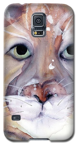 Galaxy S5 Case featuring the painting Mountain Lion by Dawn Derman