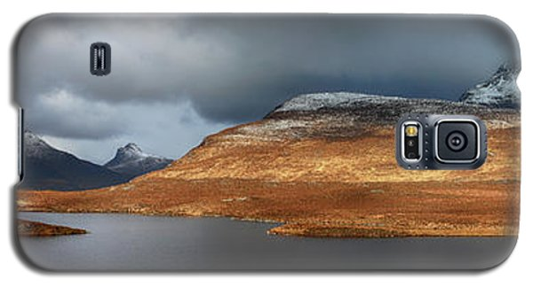 Mountain Pano From Knockan Crag Galaxy S5 Case by Grant Glendinning