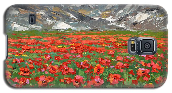 Mountain Poppies   Galaxy S5 Case by Dmitry Spiros