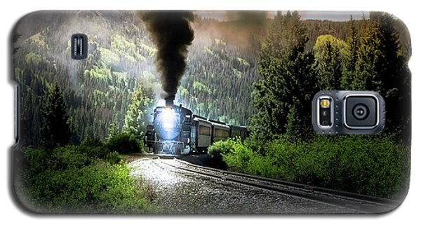 Galaxy S5 Case featuring the photograph Mountain Railway - Morning Whistle by Robert Frederick