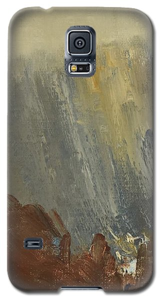 Mountain Side In Autumn Mist. Up To 90x120 Cm Galaxy S5 Case