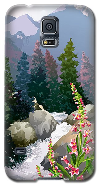 Galaxy S5 Case featuring the digital art Mountain Stream by Anne Gifford