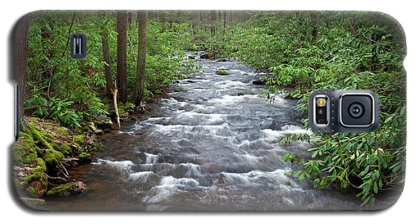 Galaxy S5 Case featuring the photograph Mountain Stream Laurel by John Stephens