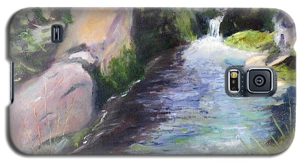 Galaxy S5 Case featuring the painting mountain Stream by Sherril Porter