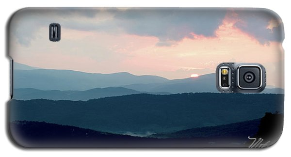 Galaxy S5 Case featuring the photograph Blue Ridge Mountain Sunset by Meta Gatschenberger