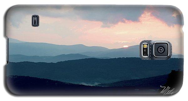 Blue Ridge Mountain Sunset Galaxy S5 Case by Meta Gatschenberger