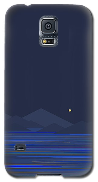 Galaxy S5 Case featuring the digital art Mountain Tops II by Val Arie