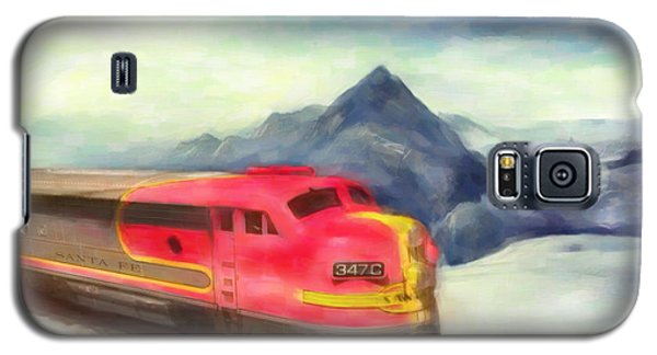 Galaxy S5 Case featuring the painting Mountain Train by Michael Cleere