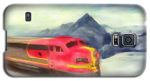 Mountain Train Galaxy S5 Case by Michael Cleere