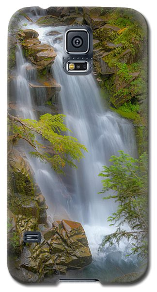 Galaxy S5 Case featuring the photograph Mountain Waterfall 5613 by Chris McKenna