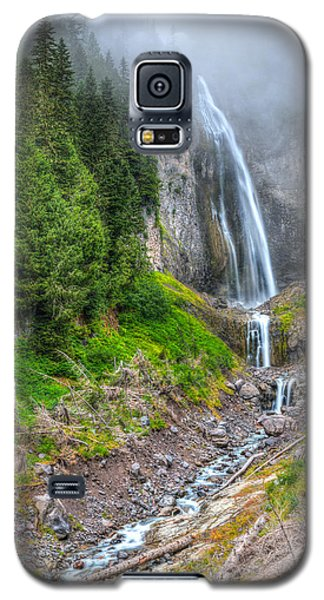 Galaxy S5 Case featuring the photograph Mountain Waterfalls 5808 by Chris McKenna