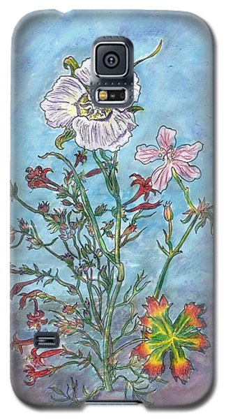 Galaxy S5 Case featuring the painting Mountain Wildflowers II by Dawn Senior-Trask