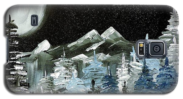 Mountain Winter Night Galaxy S5 Case by Tom Riggs