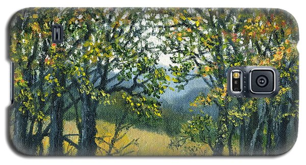 Galaxy S5 Case featuring the painting Mountain Woods by Kathleen McDermott