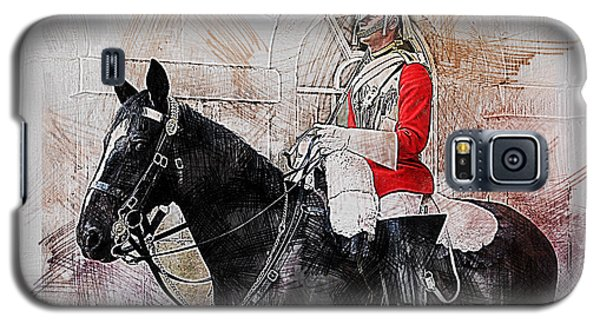 Mounted Household Cavalry Soldier On Guard Duty In Whitehall Lon Galaxy S5 Case