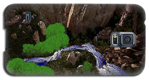 Galaxy S5 Case featuring the digital art Mountine River by Dr Loifer Vladimir
