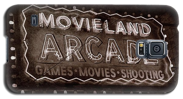 Galaxy S5 Case featuring the photograph Movieland Arcade - Gritty by Stephen Stookey