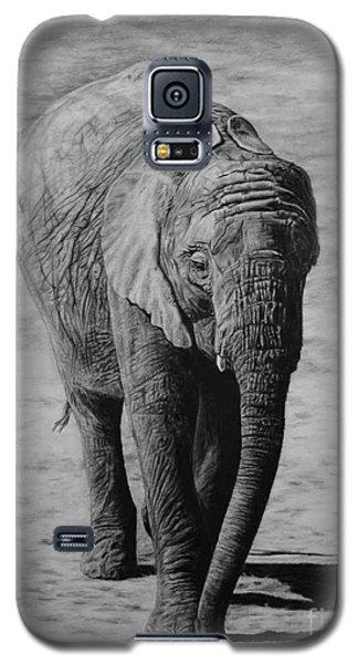 Galaxy S5 Case featuring the drawing Mpumi by Jennifer Watson