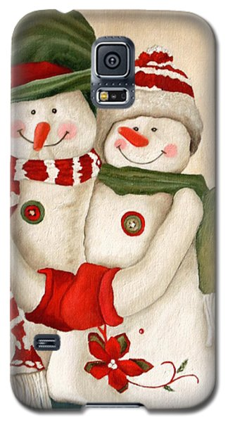 Mr. And Mrs. Snowman Vintage Galaxy S5 Case