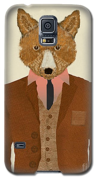 Galaxy S5 Case featuring the painting Mr Fox by Bri B