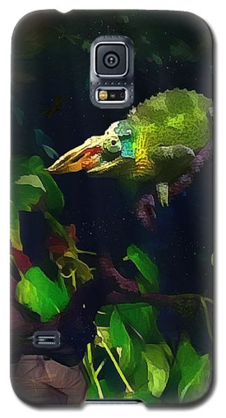 Galaxy S5 Case featuring the photograph Mr. H.c. Chameleon Esquire by Sharon Jones