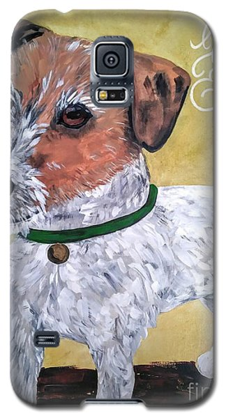 Galaxy S5 Case featuring the painting Mr. R. Terrier by Reina Resto