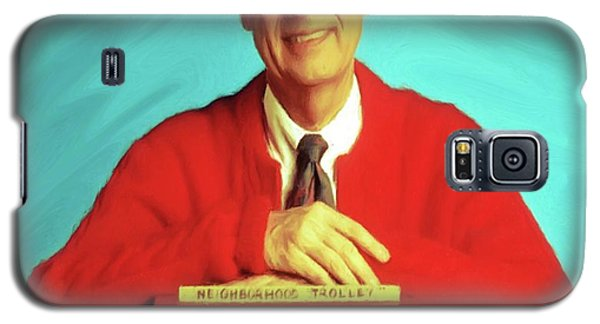 Mr Rogers With Trolley Galaxy S5 Case
